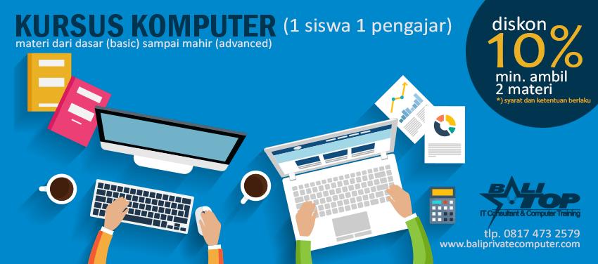 Kursus Private Komputer di Denpasar Bali